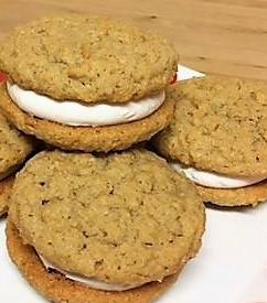 Oatmeal Cream Pies on a plate
