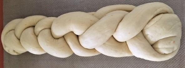 Challah bread braided