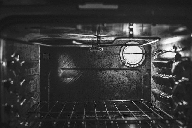 inside baking oven