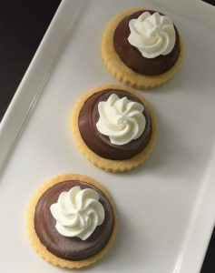 Mini Chocolate Mousse Tarts with Chantilly Cream