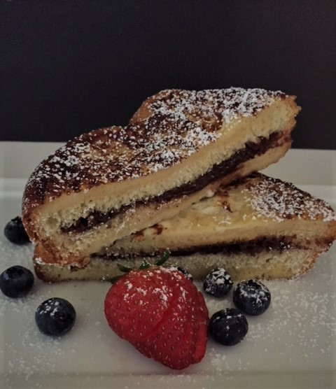 Chocolate French Toast with fresh berries
