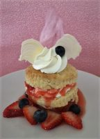 Mixed Berry Shortcake with Strawberry Couli