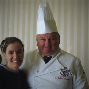 Chef Roland Mesnier at the gingerbread House contest