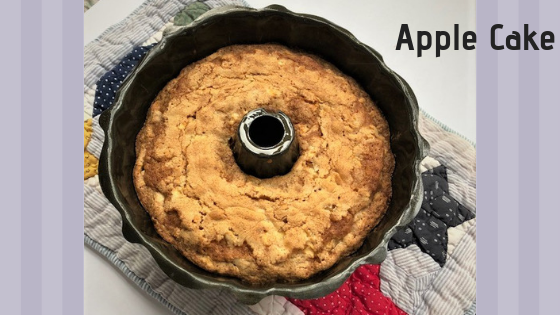 Apple Cake in a bundt pan