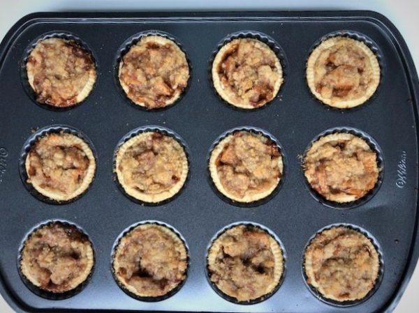 Baked Caramel Apple Mini Tarts