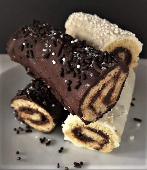 Inside Out Swiss Cake Rolls