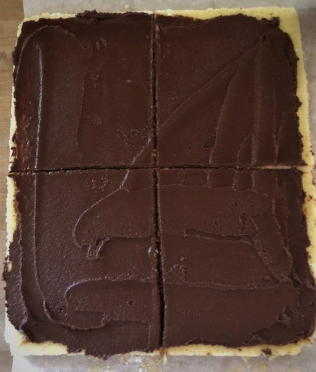 Joconde batter with chocolate ganache