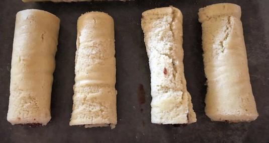 rolled Swiss cake rolls