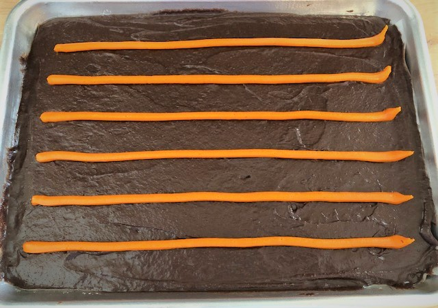 brownies in a sheet tray