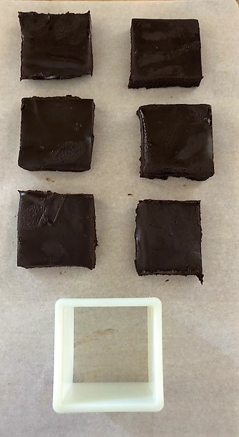 Chocolate Ganache Squares cut outs