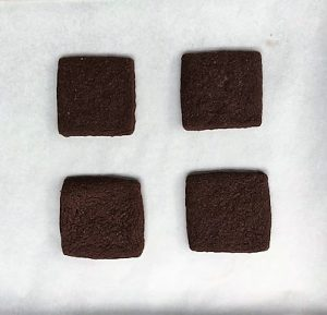 Chocolate Butter Cookie Square Cookies
