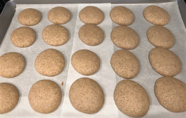 spiced whoopie pie cakes out of the oven