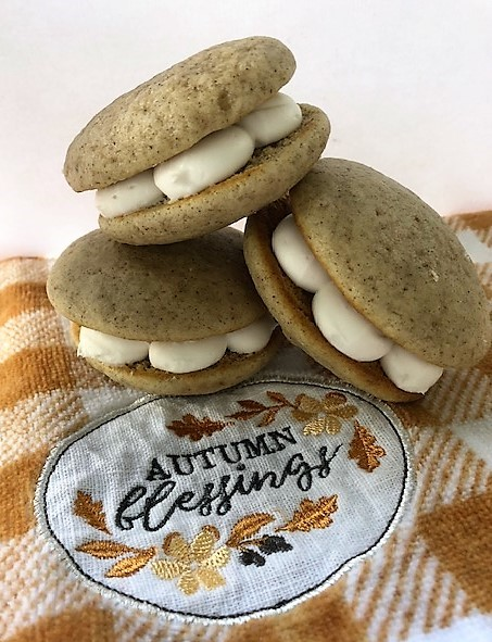Three spiced whoopie pies