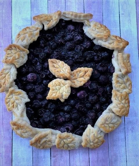 Baked Blueberry Crostata
