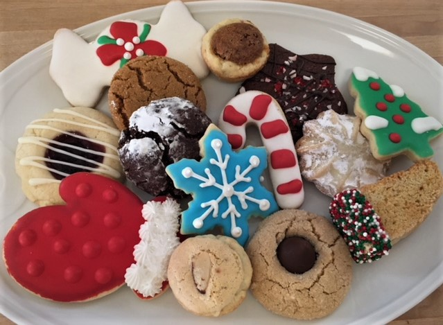 Christmas Cookie Assortment on a platter