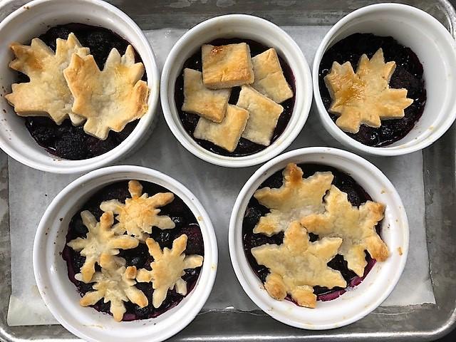 Baked invidivual Berry Pandowdy's