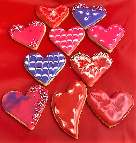 decorator heart cookies
