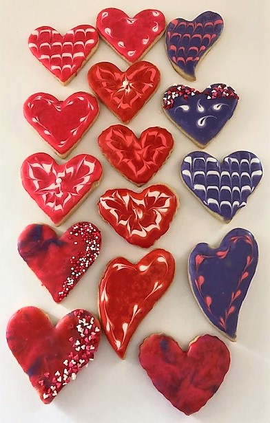 heart cookie cutouts