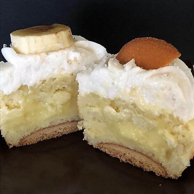inside of banana pudding cupcake
