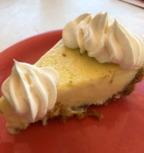 key lime pie on a plate
