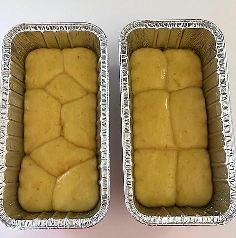 brioche bread risen in pans