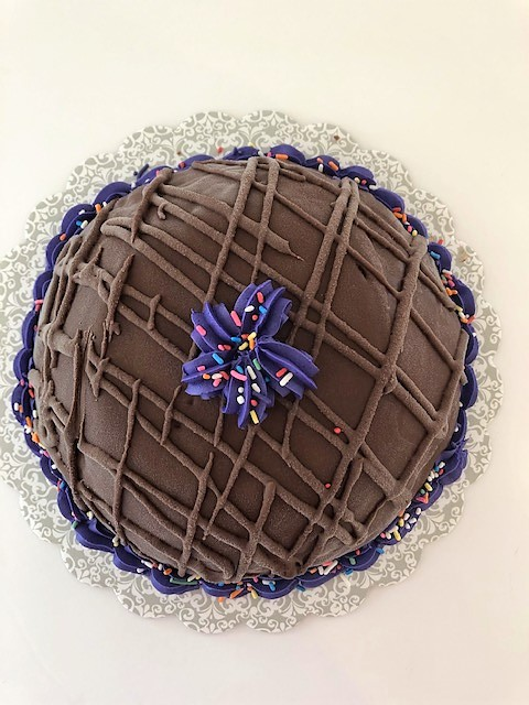 decorated chocolate bomb