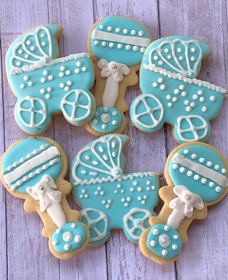 collection of baby boy cookies