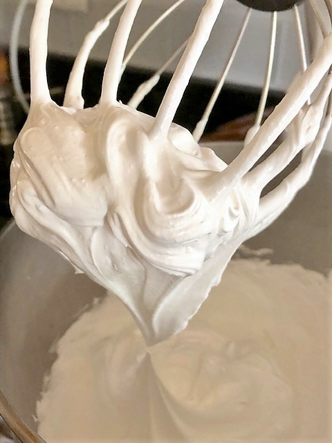 finished whipping meringues