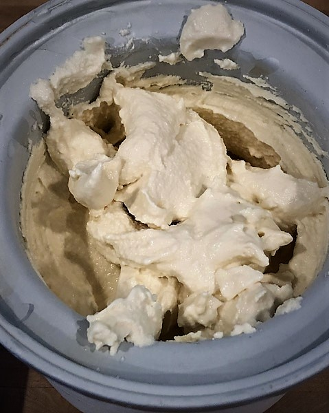 ice cream finished in freezer