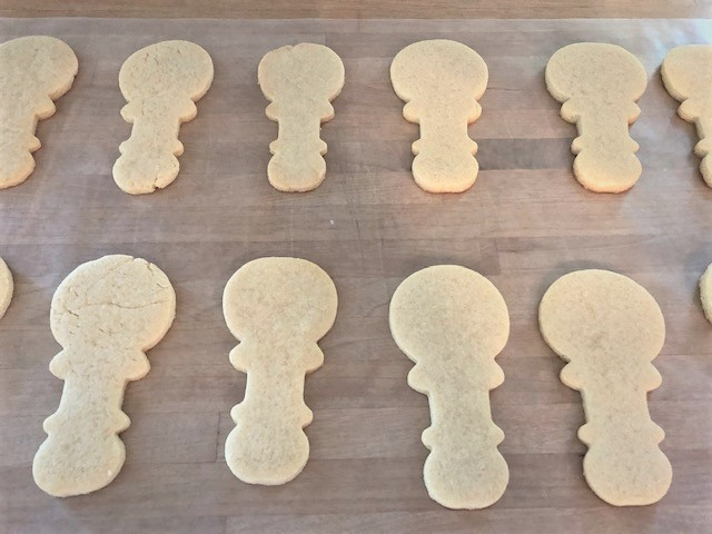 baby rattle cookies undecorated