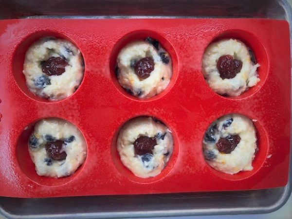 berry jammer muffins ready to bake