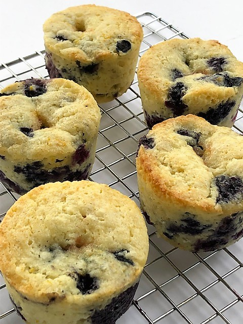Berry Jammer Muffins on cooling rack