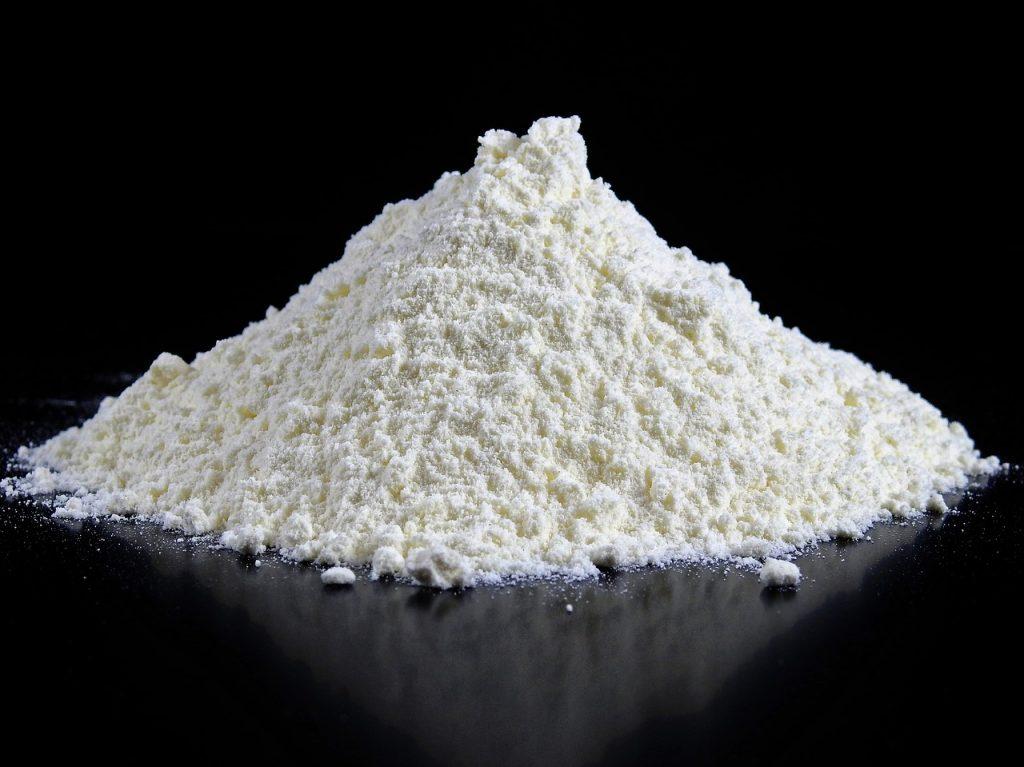 flour piled high on a table