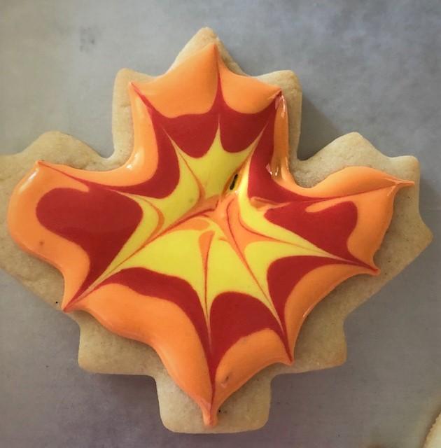 triple colored fall cookie
