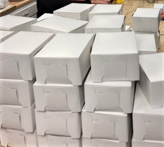 cookie boxes ready for decorating