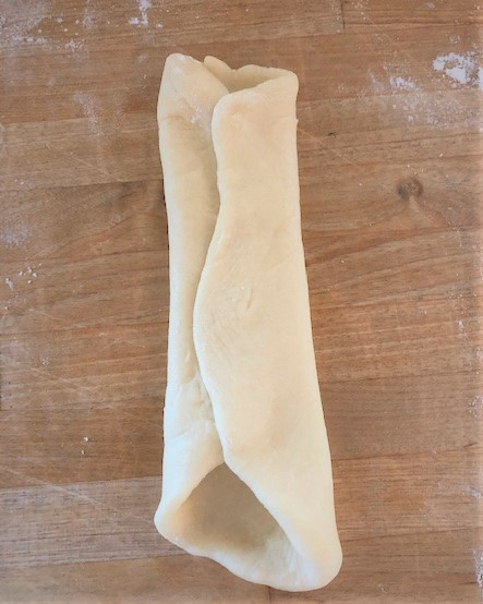 folding dough for rolls