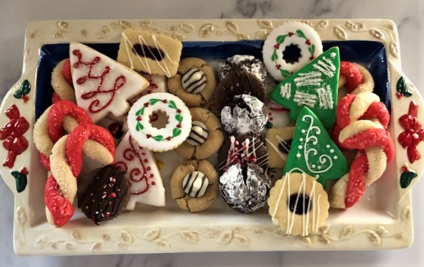 Holiday Cookie Collection on a platter