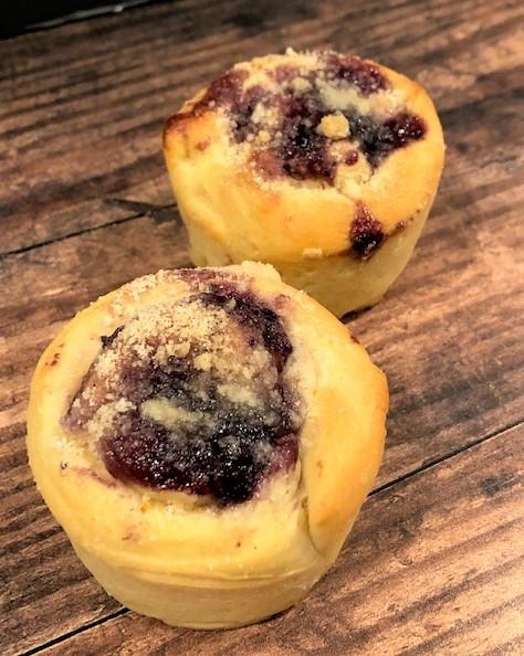 rolled babka muffins