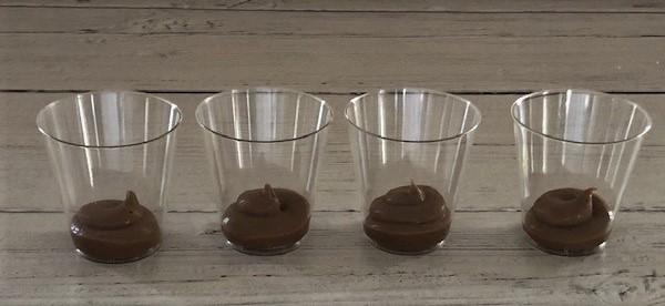 layering chocolate dessert