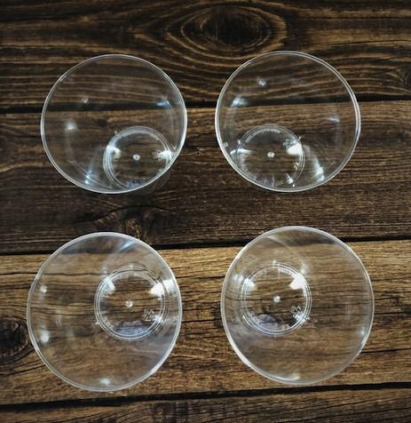 empty plastic shot glasses