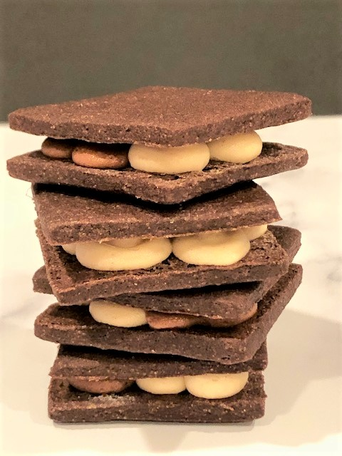 stacked sandwich cookies