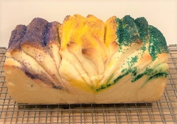 baked Mardi Gras pull apart dough
