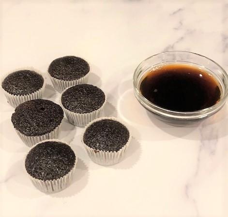 mini chocolate cupcakes with espresso