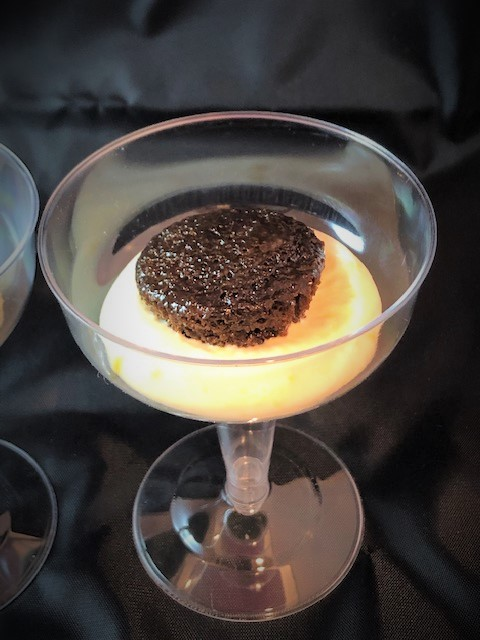 mochamisu assemling in martini glass