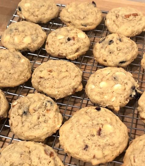 cookies on baking rack