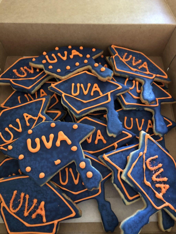 Decorator sugar cookies with UVA theme
