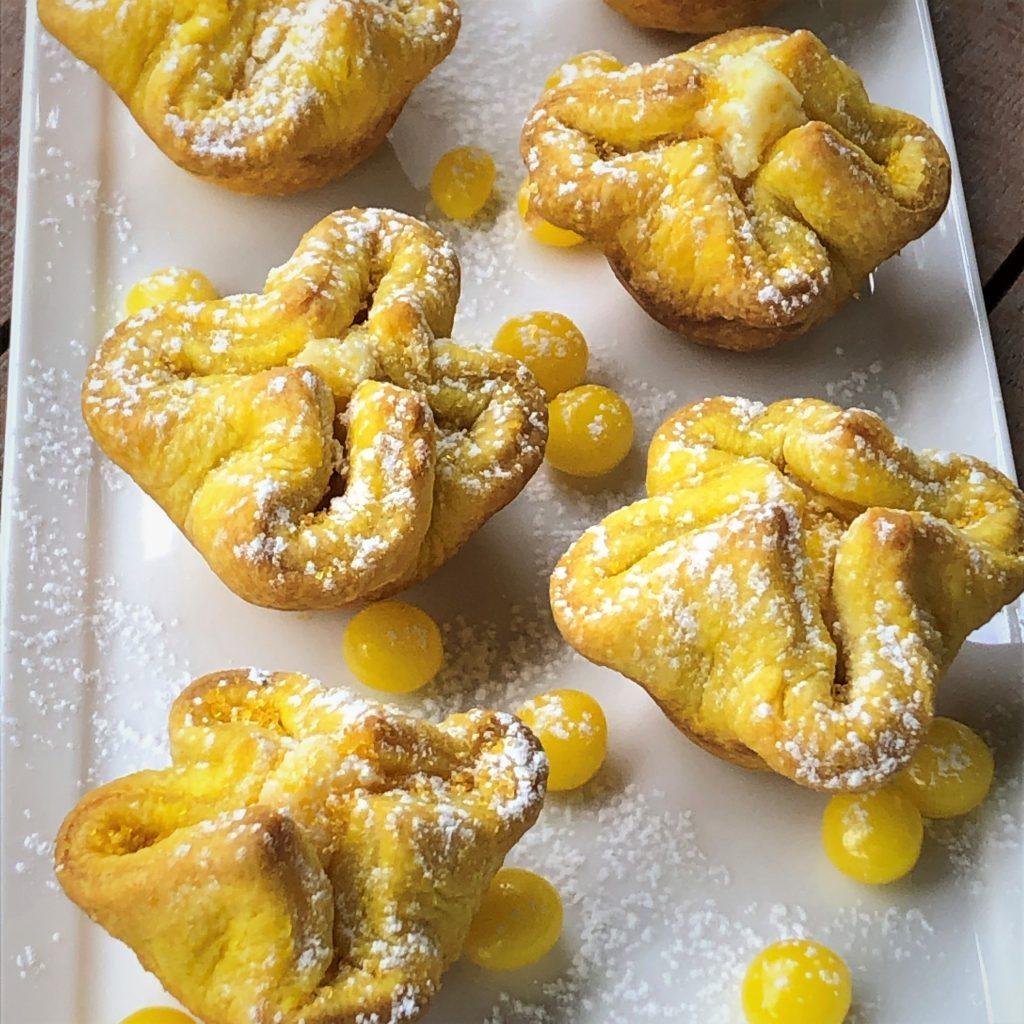 Citrus buttercups with lemon drops