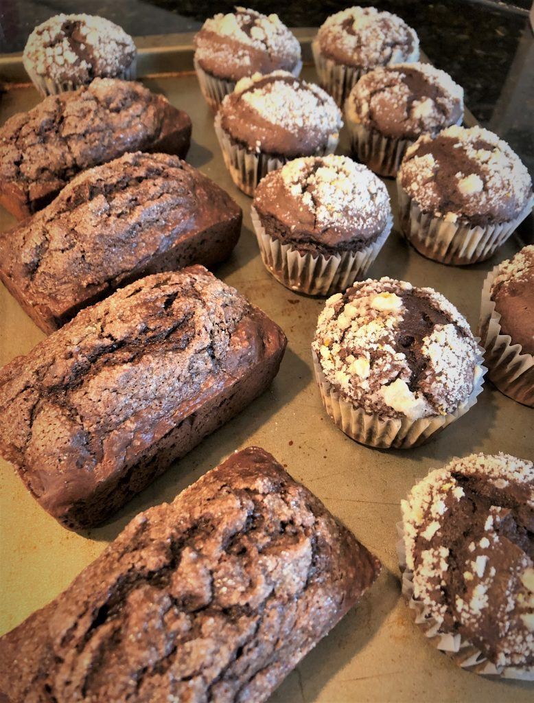 mocha muffins and mini bread loaves