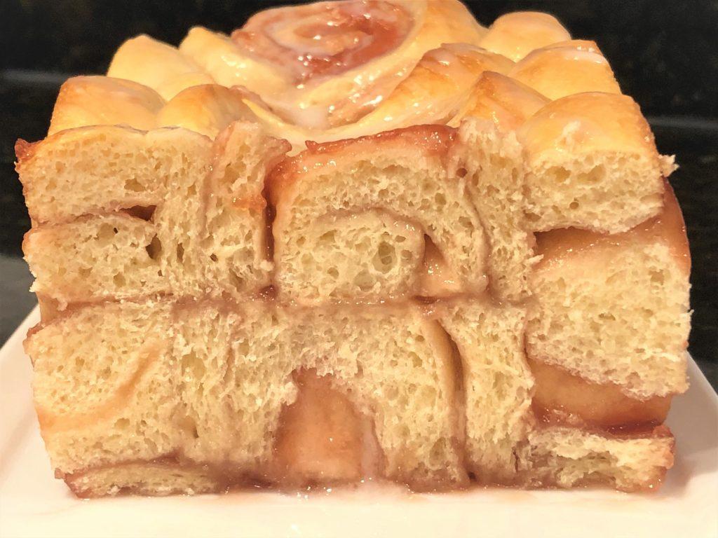 sliced jellyroll bread