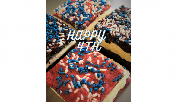 collection of patriotic ice cream sandwiches